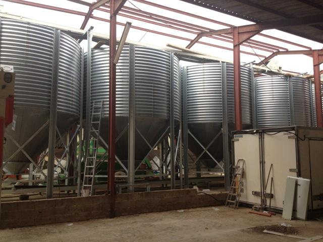 Refroidissement des grains par la ventilation pour un stockage efficace dans la ferme