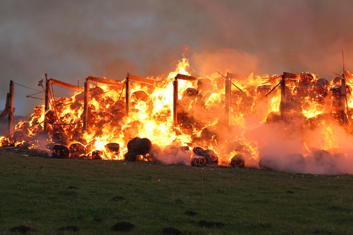 Echauffement des fourrages : comment diminuer les risques d'incendie ?