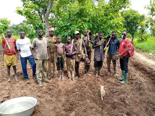Mawussi. formation des producteurs sur les BPAB couplé avec les audits