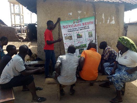 Formation des producteurs du soja biologique par Soycain Bénin